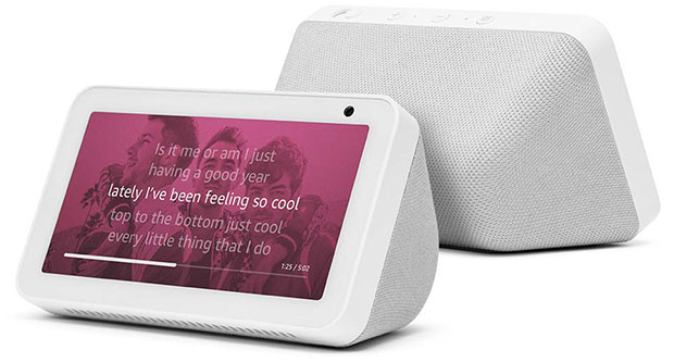 amazon has introduced a new 5.5 inch version of its echo show voice-controlled speaker