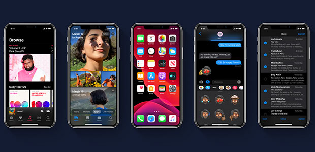 apple's ios 13 preview at wwdc included new photo tools dark mode and private sign in