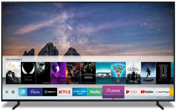 apple and samsung have partnered to make itunes and airplay available on samsung smart tvs