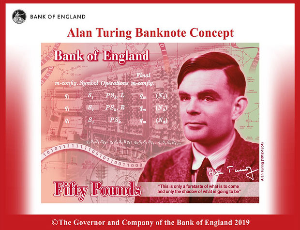 british mathematician and computer pioneer alan turing was selected to appear on 50-pound notes