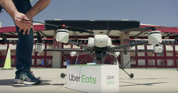 uber plans to test fast food delivery by drone in san diego this summer