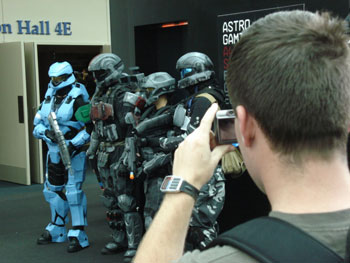 Costumed fans make an appearance at PAX.
