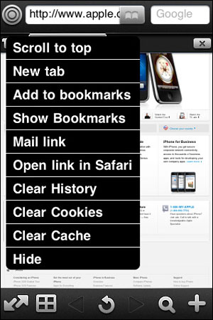 FullBrowser iPhone app