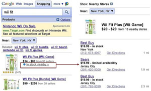 Google's Product Search for mobile with local inventory