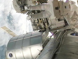STS-133 spacewalk