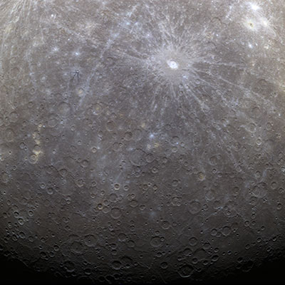 mercury messenger first color image