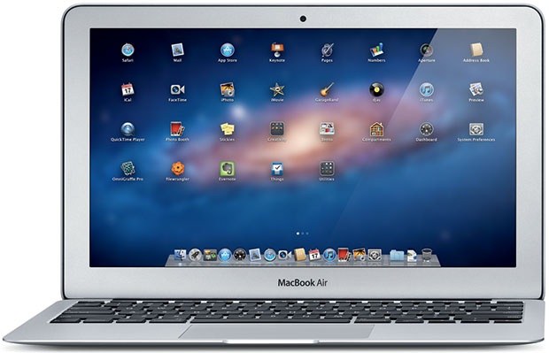 MacBook Air running OS X Lion