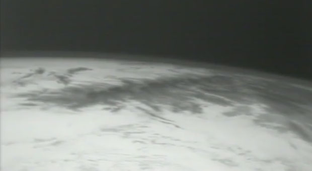 Earth from Dragon spacecraft