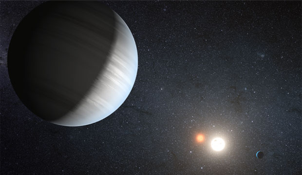 artist's conception Kepler-47 binary star system
