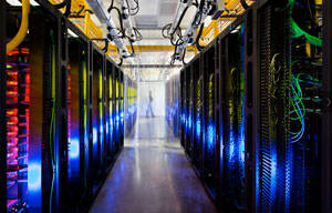 Google's Iowa network room