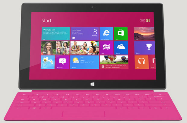 Surface tablet front view