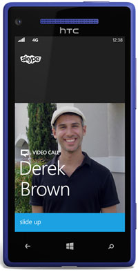 Skype on Windows Phone 8