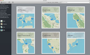 Evernote Atlas View