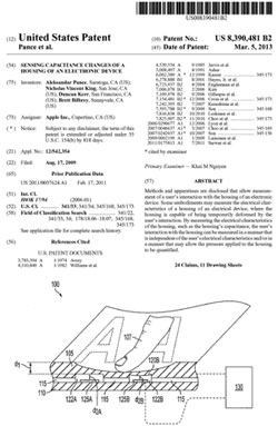 Apple's patent for a squeezable device