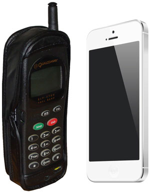 Cell Phones - From Bulky to Sleek