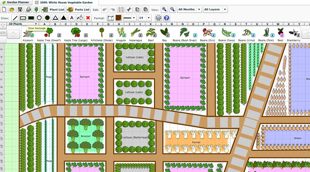 Free vegetable garden planner software garden ftempo for Best vegetable garden planner