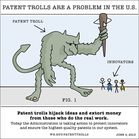 Obama administration takes on patent trolls