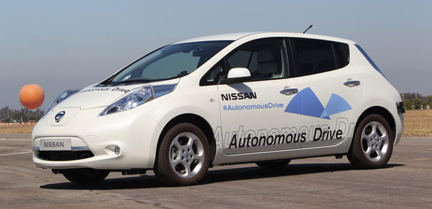 Nissan driverless car