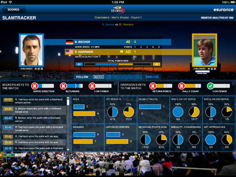 2013 US Open Tennis Championships for iPad