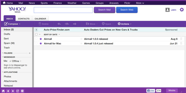 Yahoo Mail for Mac