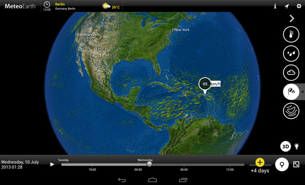 MeteoEarth screen shot