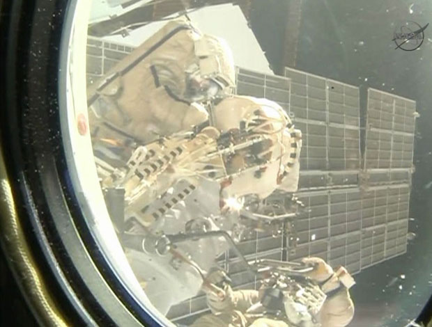 ISS spacewalkers