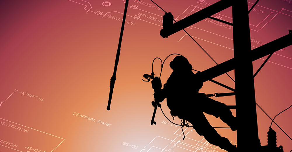 power line repair after electrical outage