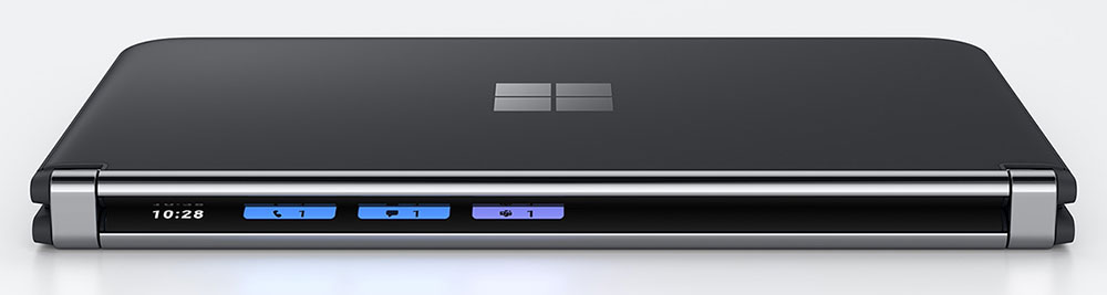 Microsoft Surface Duo 2 hinge side view