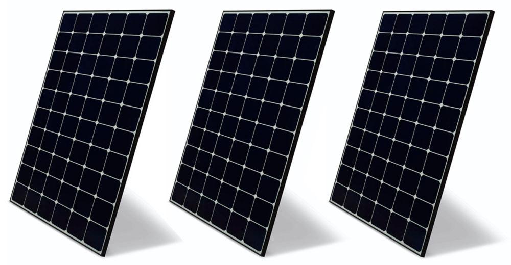 LG NeON R Solar Panles